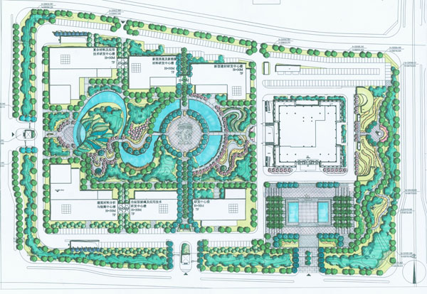 中国建材三新产业研发中心景观设计项目